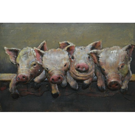 Four Pigs 40x60